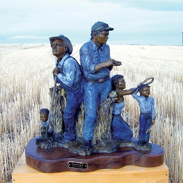 ken mayernik bronze sculptures bumper crop
