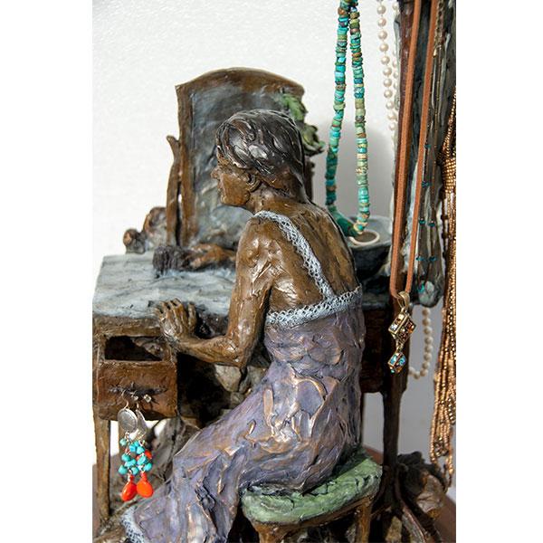 ken mayernik bronzes makeup of a lady